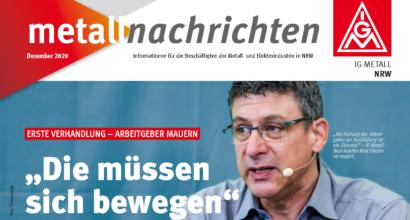 Metallnachrichten: Erste Verhandlungen - Arbeitgeber mauern