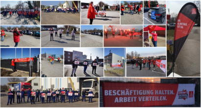 Hohe Beteiligung an Warnstreiks - Metallerinnen und Metaller aus Gelsenkirchen fordern Bewegung von den Arbeitgebern!