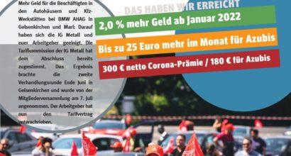 TARIFERGEBNIS FÜR BMW AHAG GE + MARL STEHT