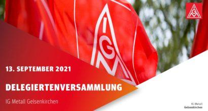 Delegiertenversammlung IG Metall Gelsenkirchen wieder in Präsenz
